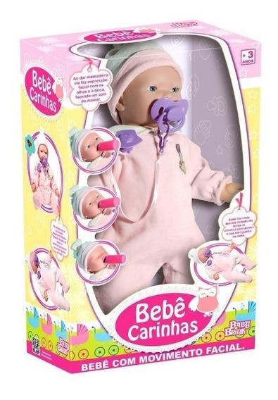 Boneca Bebê Carinhas Expressão Real Ronca Dorme Chora