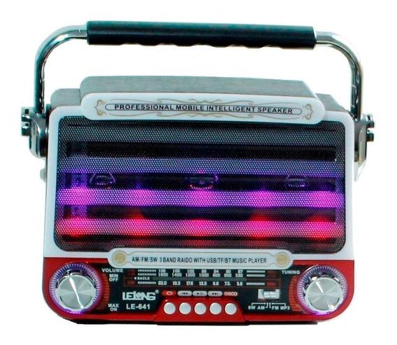 Radio Mão Mp3 Usb Cartão Tf Pendrive Am Fm Sw Retro Moderno