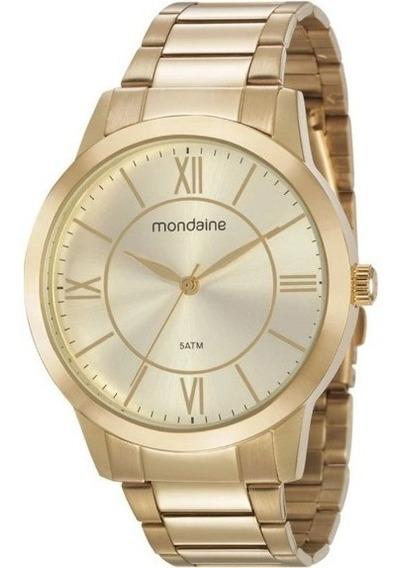 Relógio Mondaine Feminino Dourado Promoção
