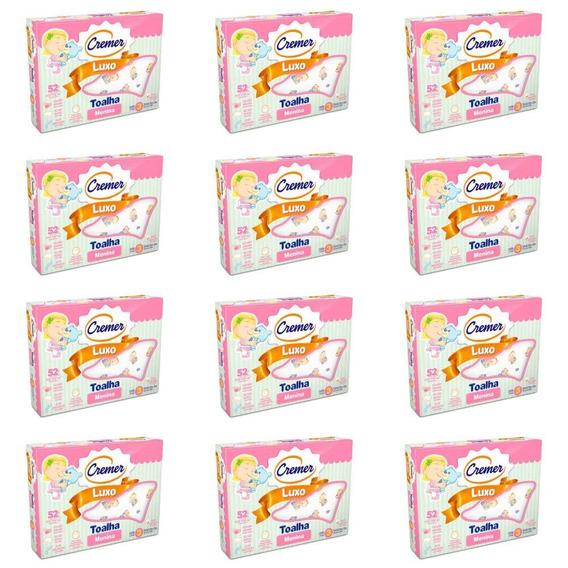 Cremer Luxo Toalha Infantil Estampada Menina C/3 (kit C/12)