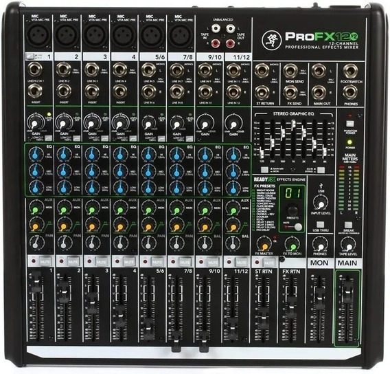 Mesa Mackie Pro Fx 12 Usb Garantia Habro Music