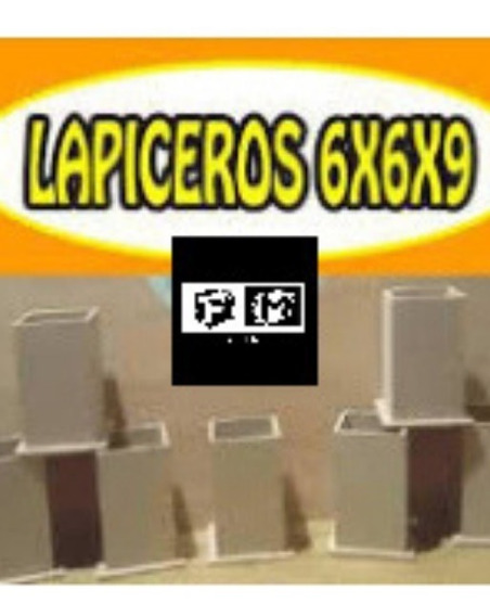 Portalapices En Fibrofacil Para Souvenirs 6x6x9 Cm X 10 Unid