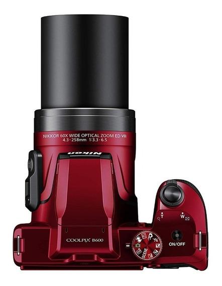 Câmera Nikon Semi Profissional B600 Leia Anuncio,vermelha