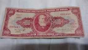 Cédulas Antigas 1 Nota De 100 Cruzeiros Notas Antigas -