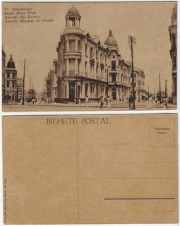 Pernambuco Cartão Postal Avenida Rio Branco E Marquês Olinda