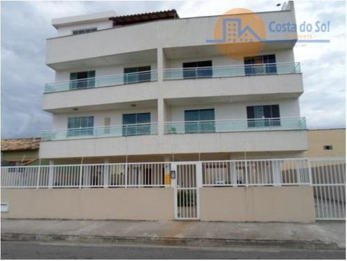 Excelente Cobertura Com 3 Dormitórios À Venda, 115 M² Por R$ 350.000 - Atlântica - Rio Das Ostras/rj - Co0008