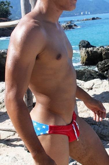 Icker Sea Bañador Star Blue Red Slip