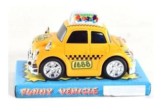 Taxi A Friccion Funko Funny Vehicle Colores En Fuga Kids