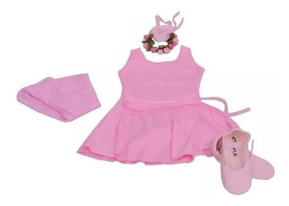 Ballet Roupa Kit Completo Infantil Aula De Balé