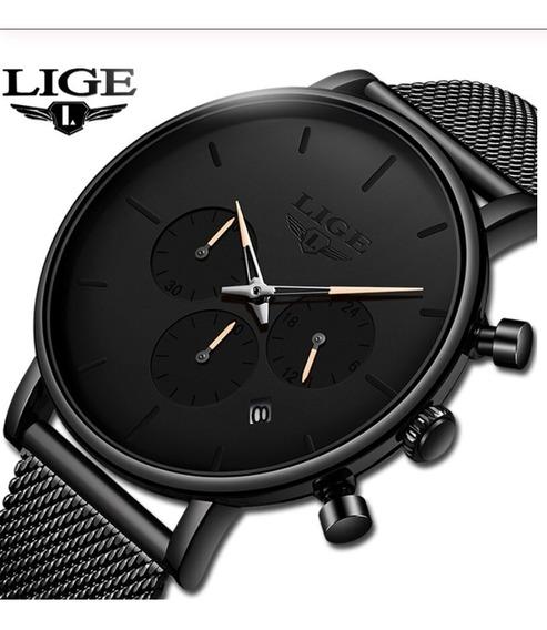 Relógio Masculino Lige 9925 Luxo Casual Social