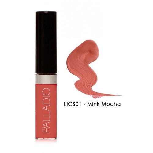 Imagen 1 de 2 de Palladio Lip Lacquer Genuino Brillo De Labios Color Mocha