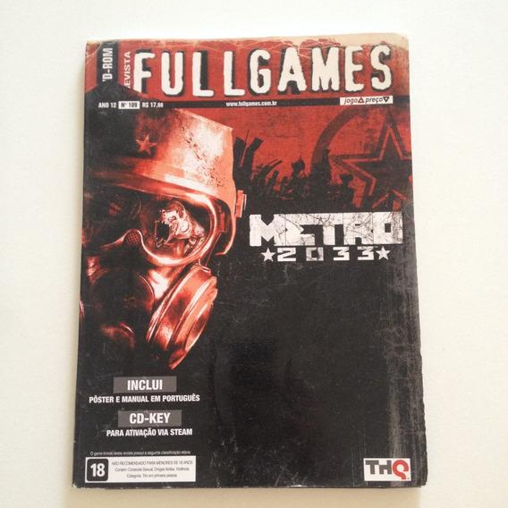Revista Fullgames Dvdrom Metro 2033 Pôster E Manual Cd-key .