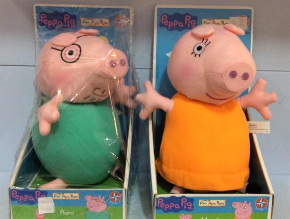 Peppa Pig Combo Papai E Mamãe Coleção Pim Pam Pum Estrela