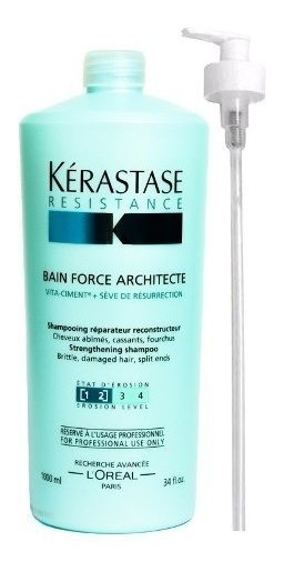 Shampoo Kerastase Resistance Bain Force Architecte X 1000ml