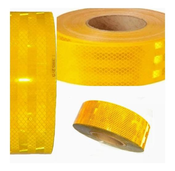 Cinta Reflectiva Amarilla Adhesiva Homologada Auto Camion