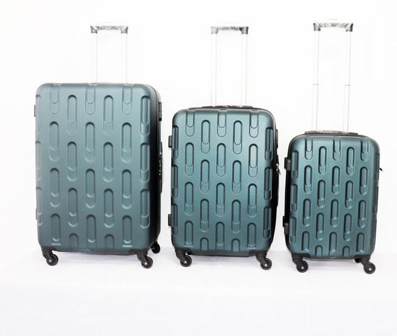 3 Pack , Maletas Rigidas Abs Diseño Oval, ¡ Envio Gratis!