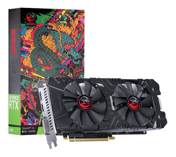 Placa De Vídeo Pcyes Nvidia Geforce Rtx 2060 6gb Dual Fan