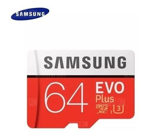 Cartão Samsung Micro Sdxc Evo 64gb 100mb/s Uhs-3 Sd Original
