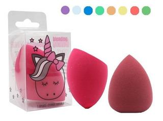 12 Pieza Esponja Maquillaje 6 Diseños Unicornio Blender