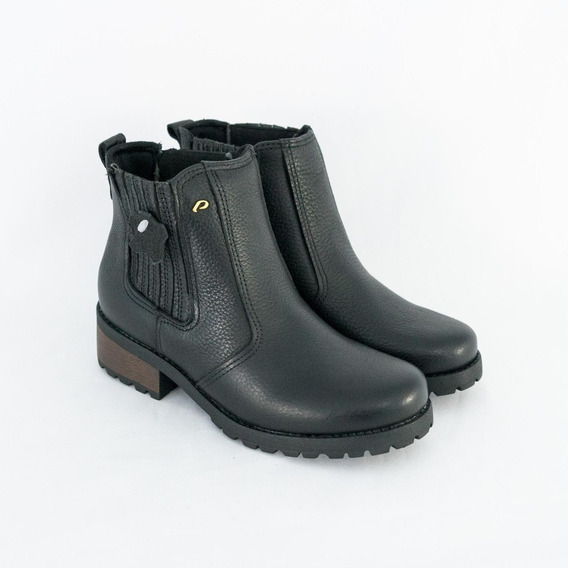 Bota Coturno Feminino Pegada 281402 Burnished Original