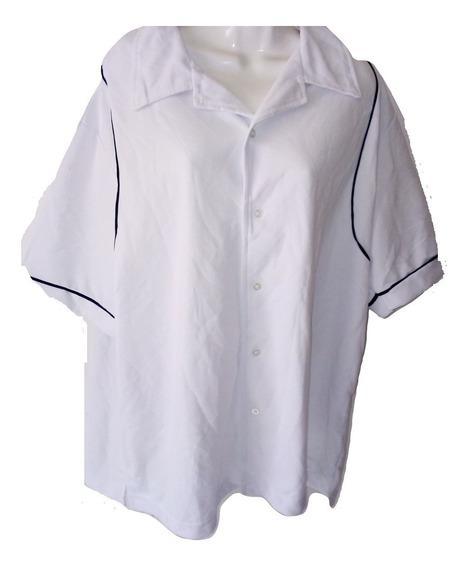 Camisa Filipina Guayabera Gruesa De Algodon Seminueva Manga Corta Talla Xl Hotel Resort Spa Casino Las Vegas $490a