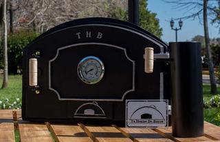 Puerta De Fundición Thb + Pirometro + Chimenea Thb