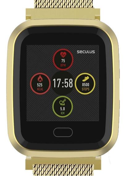 Relógio Seculus Smartwatch Dourado 79006mpsvde1 +nota Fiscal