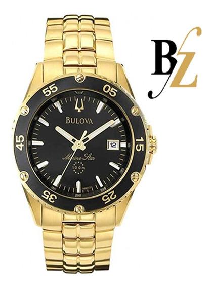 Relógio Bulova Masculino Marine Star Wb30757u Dourado