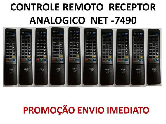 Kit C/10 Controle Remoto Receptor Analogico Net -7490