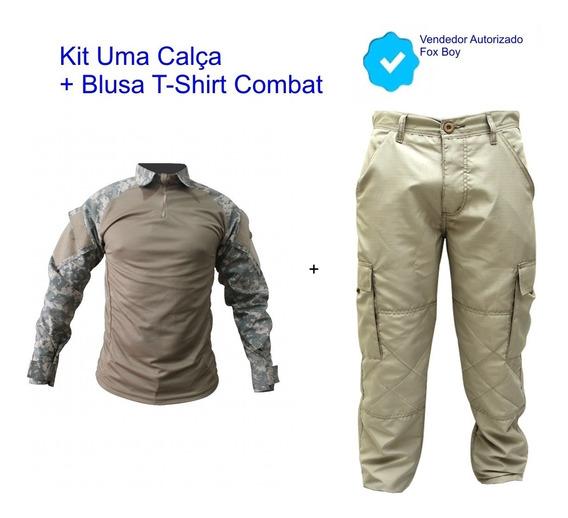 Calça + Gandola Camisa Blusa Pescaria Air Soft Paint Ball