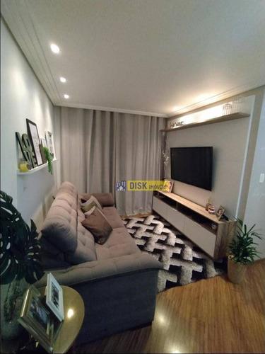 Apartamento Com 2 Dormitórios À Venda, 58 M² Por R$ 320.000 - Assunção - São Bernardo Do Campo/sp - Ap2036