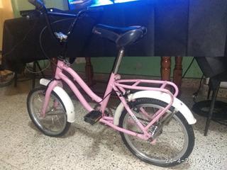 Niñas Bicicleta De Paseo Rodado 14 Rosa Exelente Estado