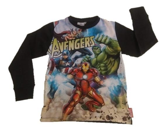 Remera Manga Larga Avengers Vengadores End Game Niño