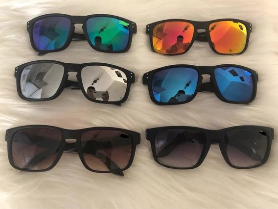 Kit C/ 15 Óculos De Sol Masculino Quadrado Varias Cores Revenda Atacado