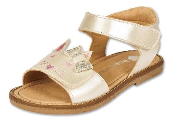 Calzado Bebe Niña Sandalia Casual Tropicana Tipo Piel Perla