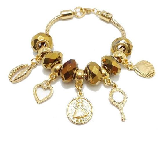 Pulseira Oxum Berloque Pandora Dourada
