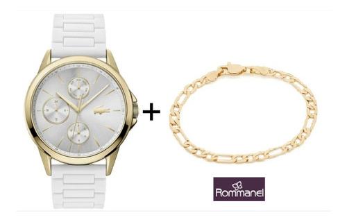 Kit Relogio Lacoste Feminino +pulseira Rommanel B 18k 551635