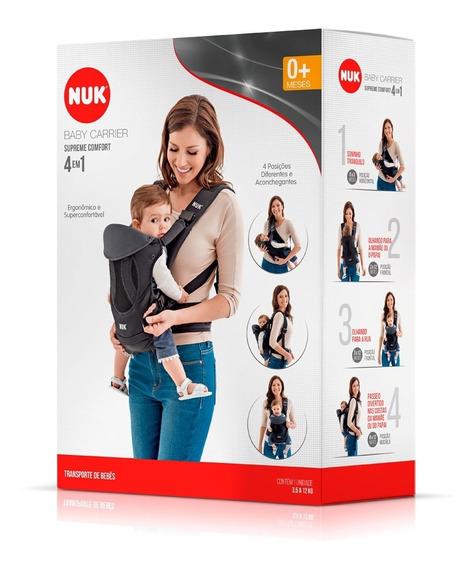 Canguru Carregador De Bebê Supreme Comfort 4 Em 1 Preto Nuk