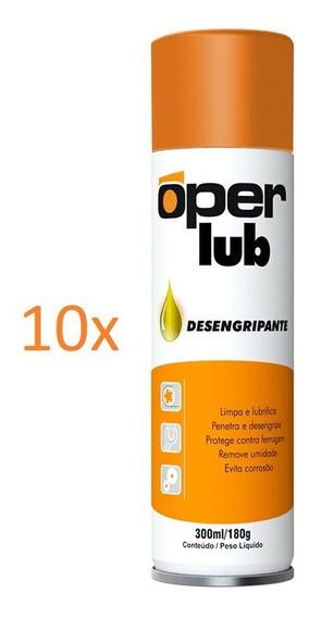 10 Óleos Desengripante 300ml Oper Lub Lubrifica E Desoxida