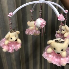 Móbile Giratório Musical Ursinho Para Berço - Bebê Menina