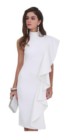 Vestidos De Fiesta Blanco O Negro Spandex