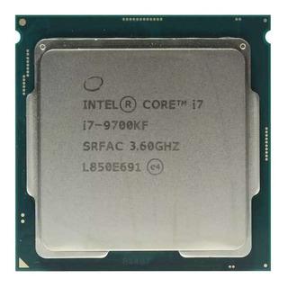 Procesador gamer Intel Core i7-9700KF BX80684I79700KF de 8 núcleos y 4.9GHz de frecuencia