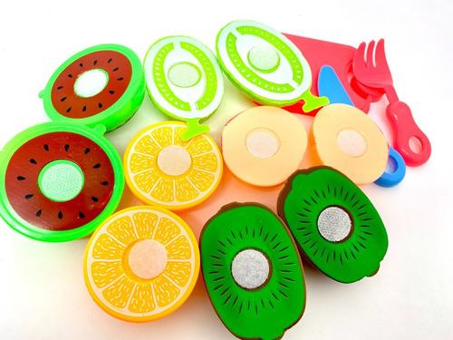 Imagem 1 de 3 de Comidinha Frutas Legumes Com Velcro Para Corte Brinquedo