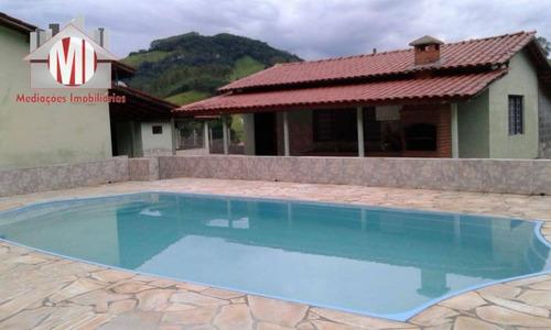 Linda Chácara Com 3 Dormitórios, Piscina, Lago, Salão De Jogos, À Venda, 14000 M² Por R$ 480.000 - Rural - Socorro/sp - Ch0817