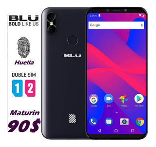 Blu Studio Mega 2018 Nuevos*90v* Huella Forro Dual Sim Tiend