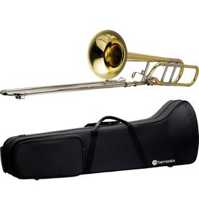 Trombone De Vara Tenor Laqueado Bb/f Hsl-801l Harmonics