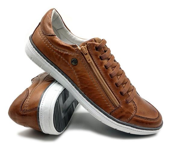 Sapato Tênis De Elástico E Zíper Não Precisa Amarar Bm 608