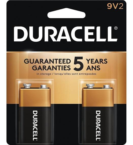 Bateria 9v Alcalina Duracell - Cartela Com 2 Unidades