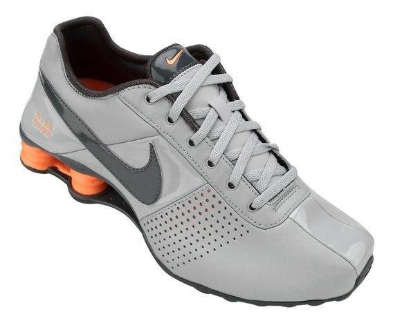 Tênis Nike Shox Deliver Cinza Laranja Original