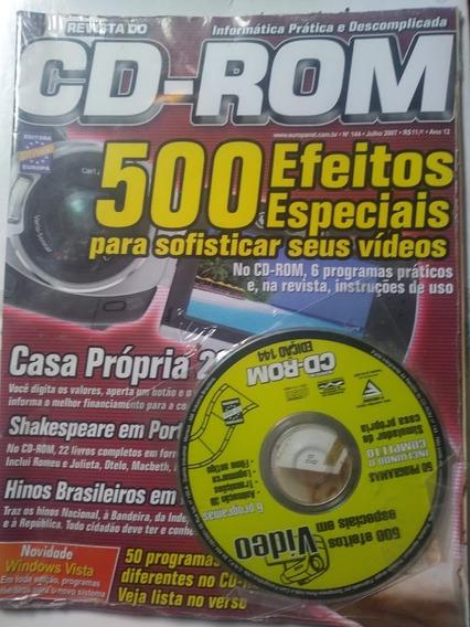 Revista Cd-rom 500 Efeitos Especiais P/ Seus Videos Nr. 144